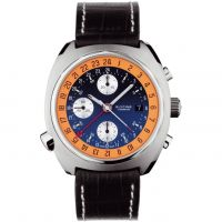 homme Glycine Airman SST GMT Chronograph Watch 3902.186-LBN9