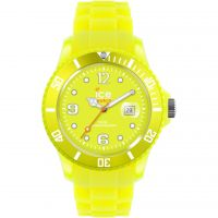 Big-Big Ice-Watch Ice-Flashy - neon yellow extra big Watch