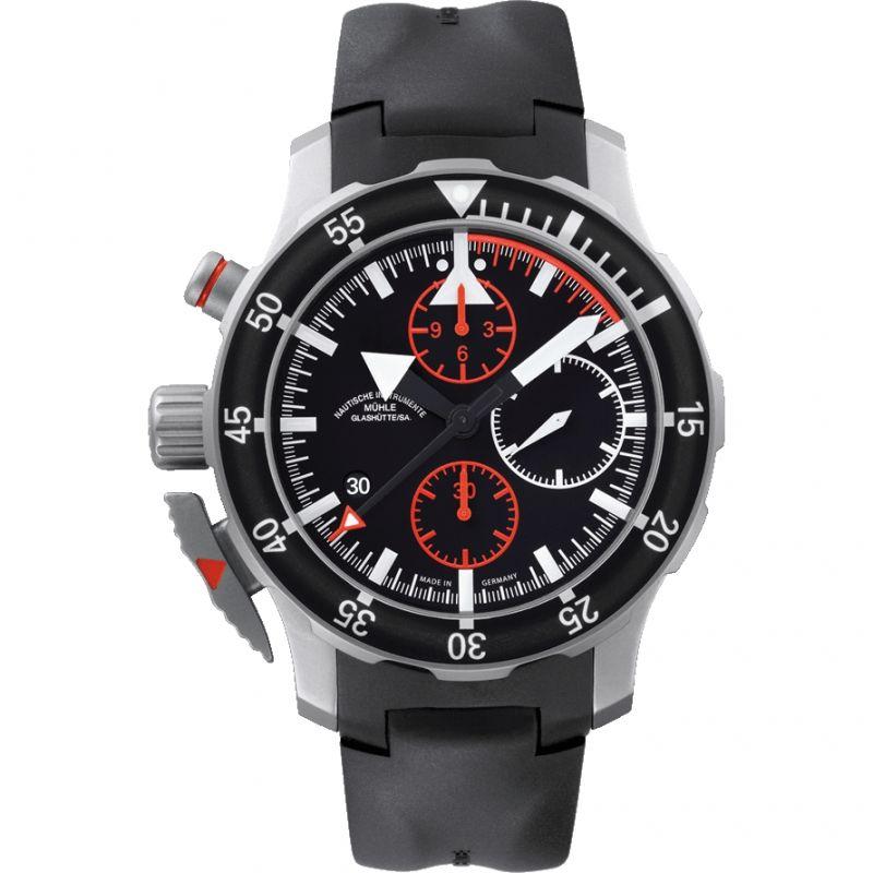 Mens Muhle Glashutte SAR Fleiger Automatic Chronograph Watch