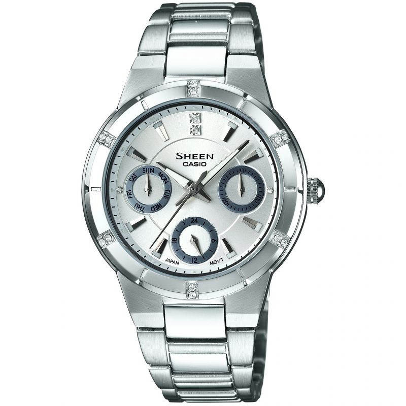 Casio Sheen Dameshorloge Zilver SHE-3800D-7ADR