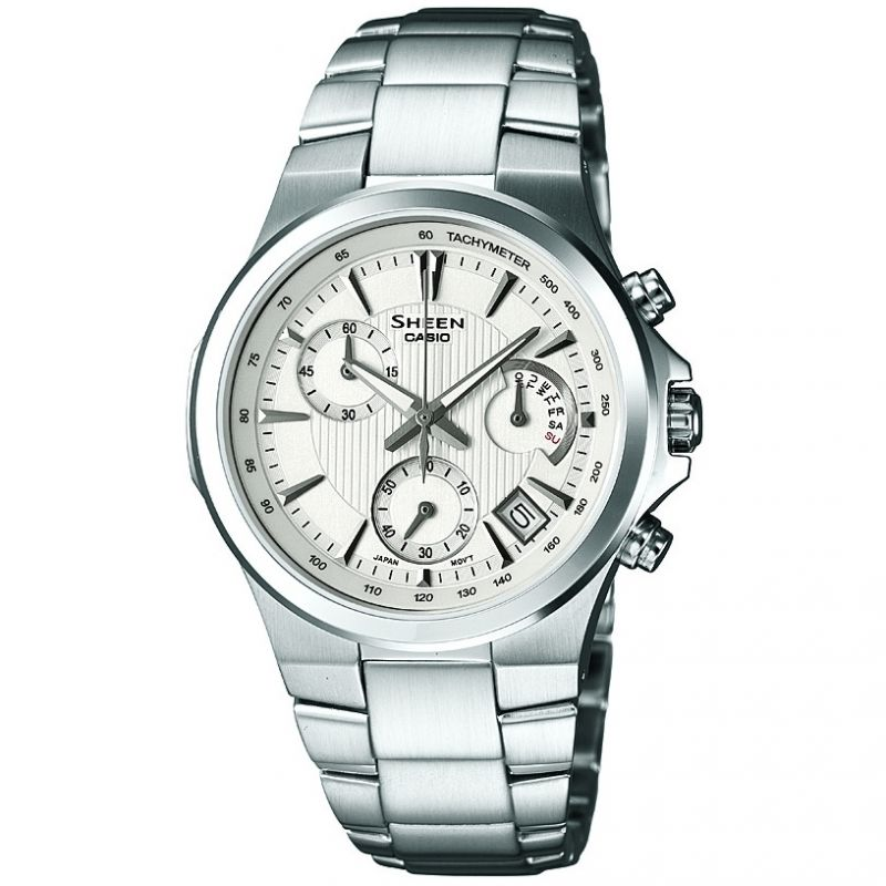 Ladies Casio Sheen Chronograph Watch SHE-5019D-7AEF