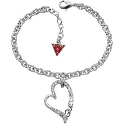 Femmes Guess Rhodium Plated Bracelet