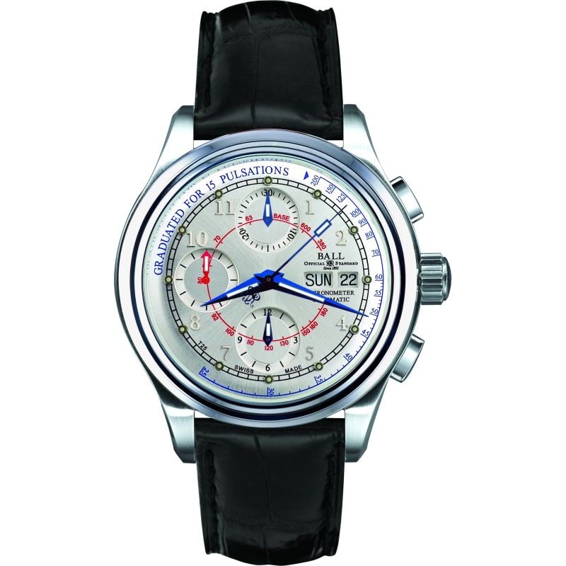 Mens Ball Trainmaster Pulsometer Chronometer Automatic Chronograph Watch