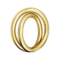 Ladies Calvin Klein PVD Gold plated Continue Ring Size P KJ0EJR100108