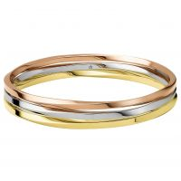 Ladies Calvin Klein Two-tone steel/gold plate Small Exclusive Bangle