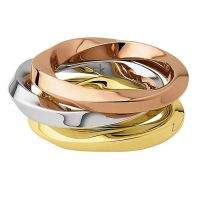 Ladies Calvin Klein Two-tone steel/gold plate Size N Exclusive Ring