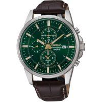Herren Seiko Alarm Chronograph Watch SNAF09P1