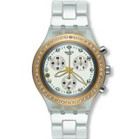 femme Swatch Full-Blooded Marvelous Yellow Chronograph Watch SVCK4068AG