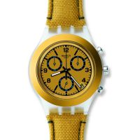 Unisex Swatch Mustardy Chronograph Watch SVCK4069