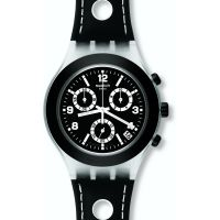 homme Swatch Black Cup Chronograph Watch SVCK4072