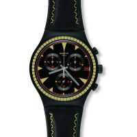 Mens Swatch Black Species Chronograph Watch