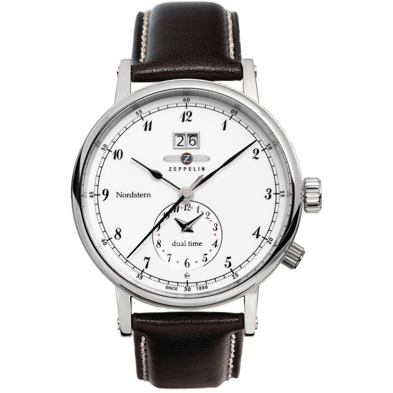 Mens Zeppelin Nordstern Dual Time Watch