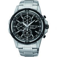 Mens Seiko Alarm Chronograph Solar Powered Watch SSC147P1