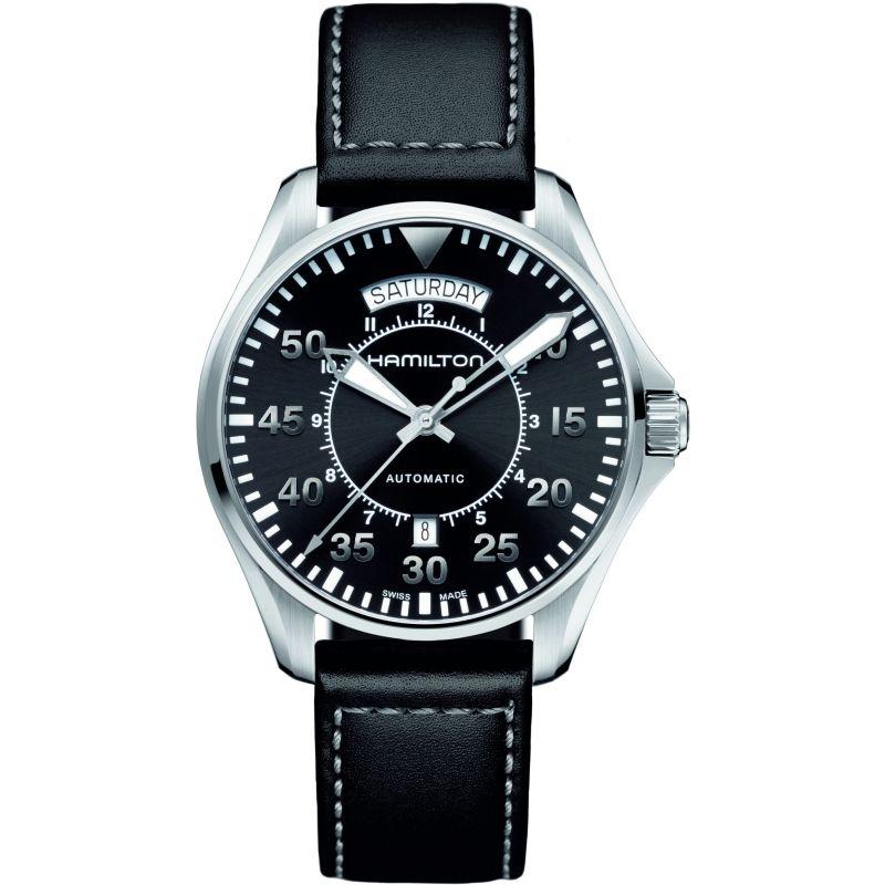 Mens Hamilton Khaki Pilot Day-Date Automatic Watch