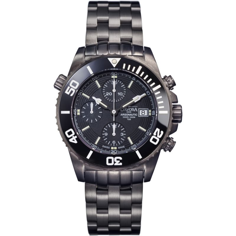 Mens Davosa Argonautic Gun Lumis Automatic Chronograph Watch