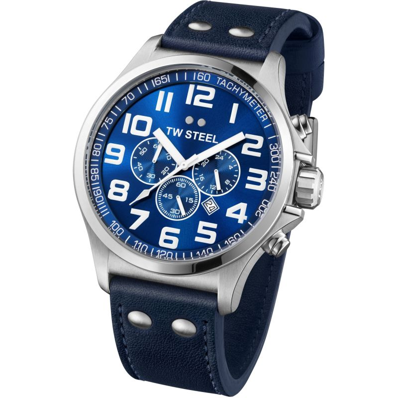 Mens TW Steel Pilot Chronograph 45mm Watch