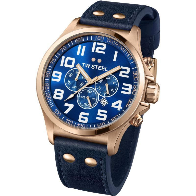 Mens TW Steel Pilot Chronograph 48mm Watch