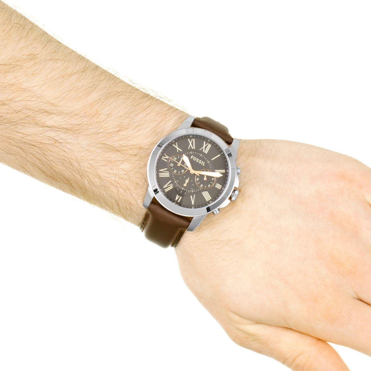 Favori Hommes Fossil Grant Chronographe Montre FS4813 UW81
