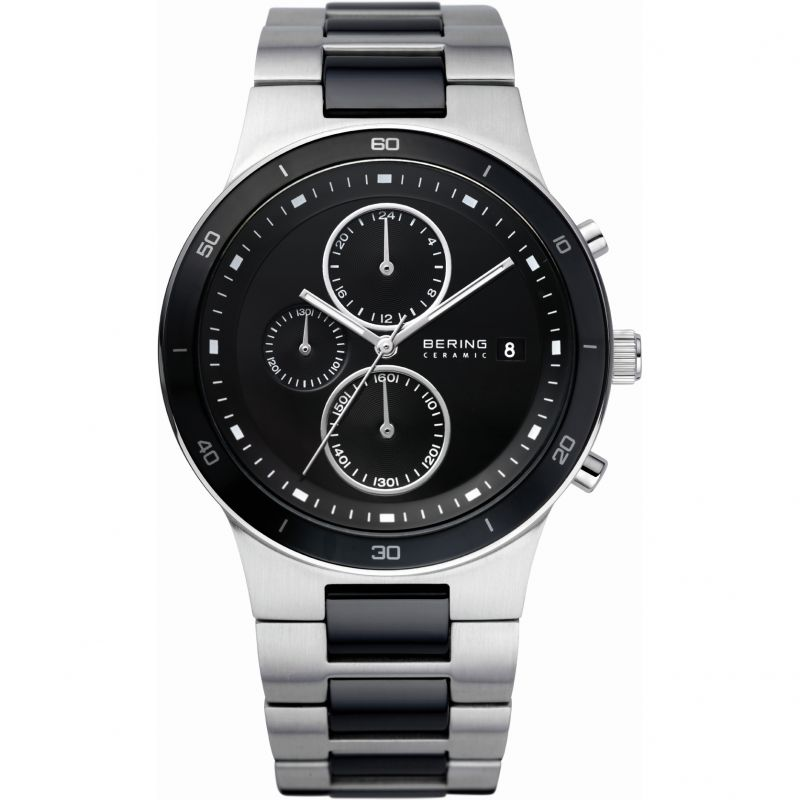 Mens Bering Ceramic Chronograph Watch