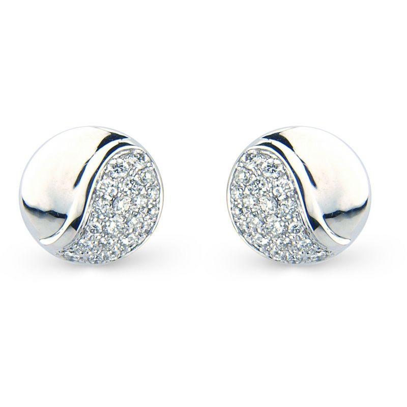 White Gold Pave-set Diamond Earrings