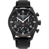 Herren Alpina Startimer Pilot Chronograph Watch AL-372B4FBS6