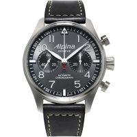 Mens Alpina Startimer Pilot Automatic Chronograph Watch