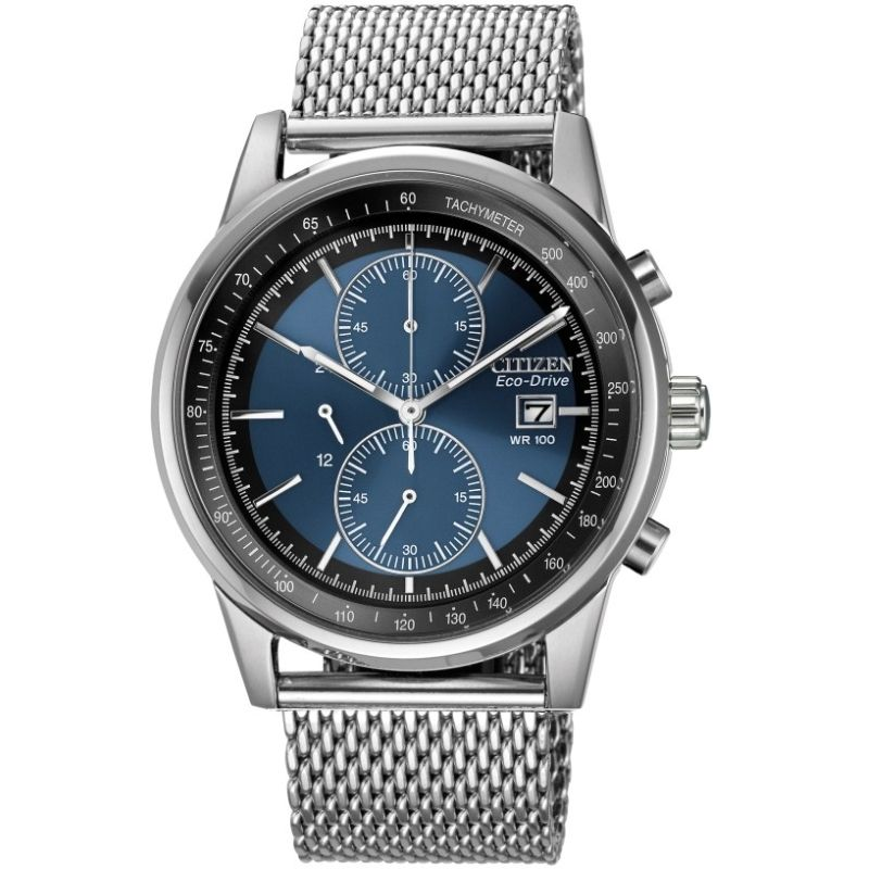 Mens Citizen Mesh Chronograph Watch