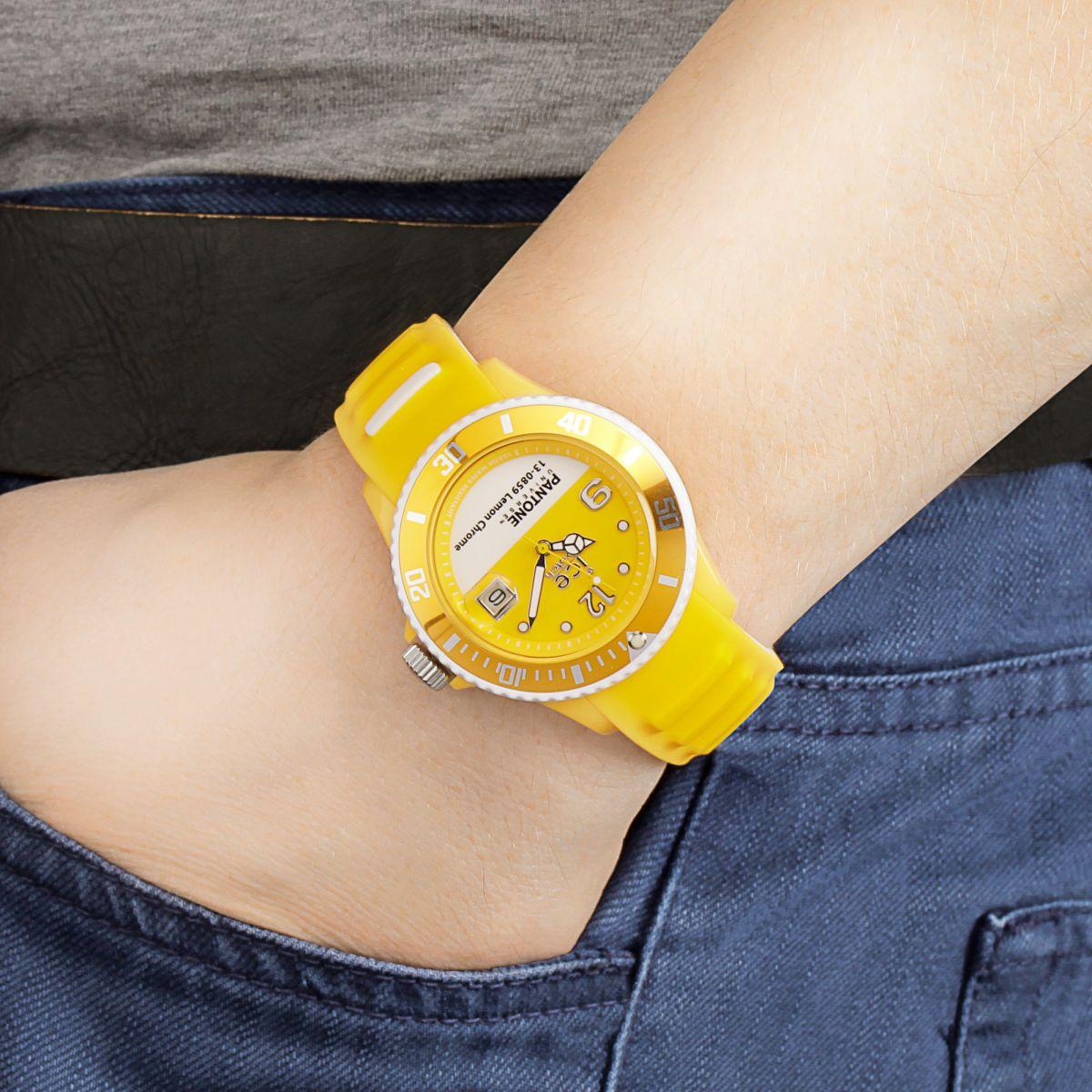 Unisex Ice-Watch Pantone Universe Lemon Chrome Watch (PAN ...