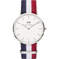 homme Daniel Wellington Cambridge Silver 40mm Watch DW00100017