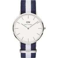 Mens Daniel Wellington Glasgow Silver 40mm Watch