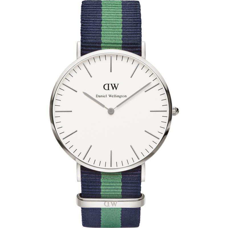 Herren Daniel Wellington Warwick Silver 40mm Watch DW00100019