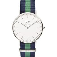 Mens Daniel Wellington Warwick Silver 40mm Watch