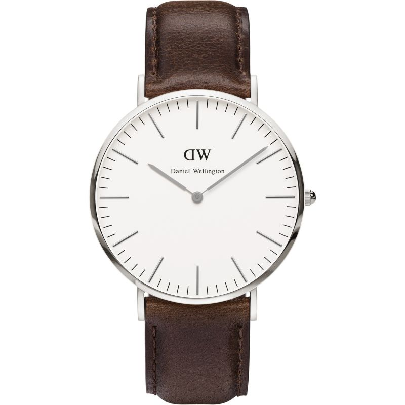 Herren Daniel Wellington Bristol Silver 40mm Watch DW00100023
