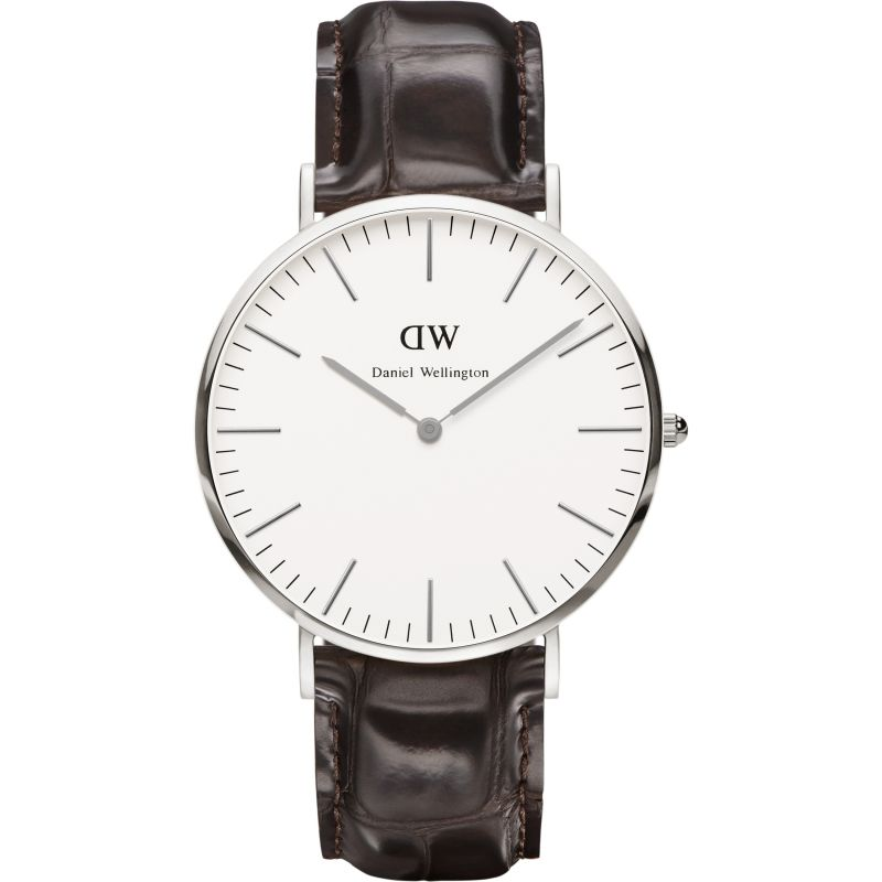 Mens Daniel Wellington York Silver 40mm Watch