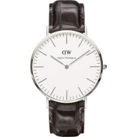 homme Daniel Wellington York Silver 40mm Watch DW00100025