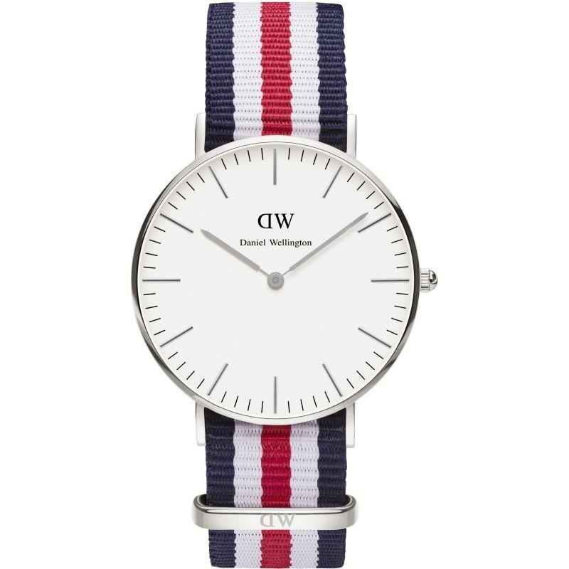 femme Daniel Wellington Canterbury Silver 36mm Watch DW00100051