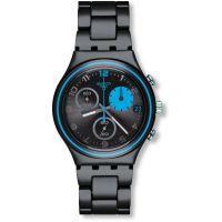 Damen Swatch Blauerfleck Chronograf Uhr