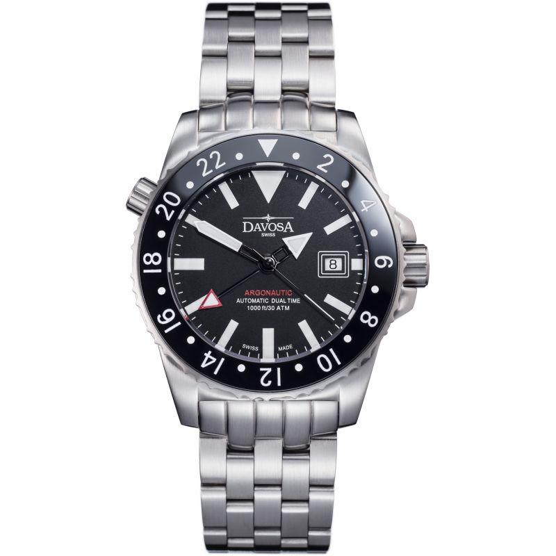 Mens Davosa Argonautic Dual Time GMT Automatic Watch