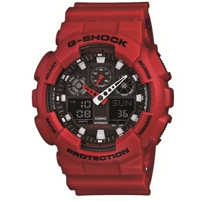 Mens Casio G-Shock Alarm Chronograph Watch GA-100B-4AER