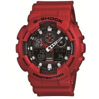 Herren Casio G-Shock Alarm Chronograph Watch GA-100B-4AER
