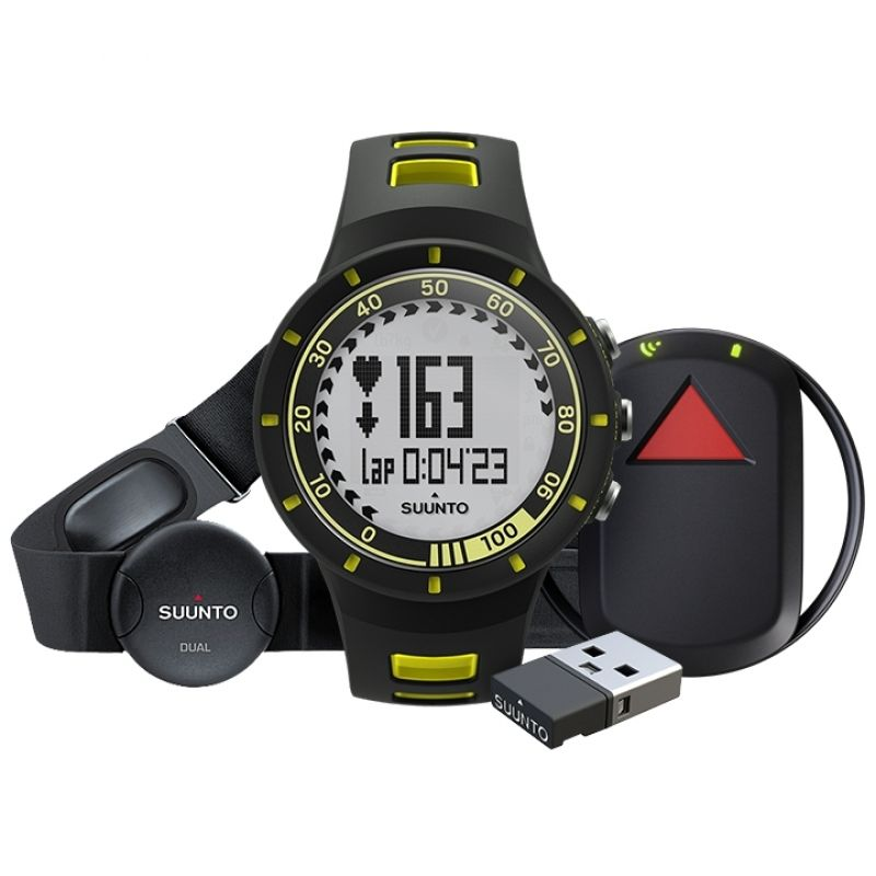 Unisex Suunto Quest Yellow GPS Pack Alarm Chronograph Watch