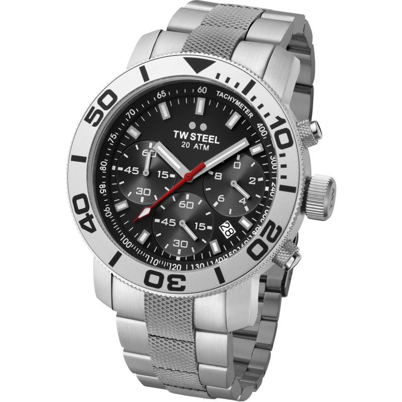 Mens TW Steel Grandeur Diver Chronograph 45mm Watch