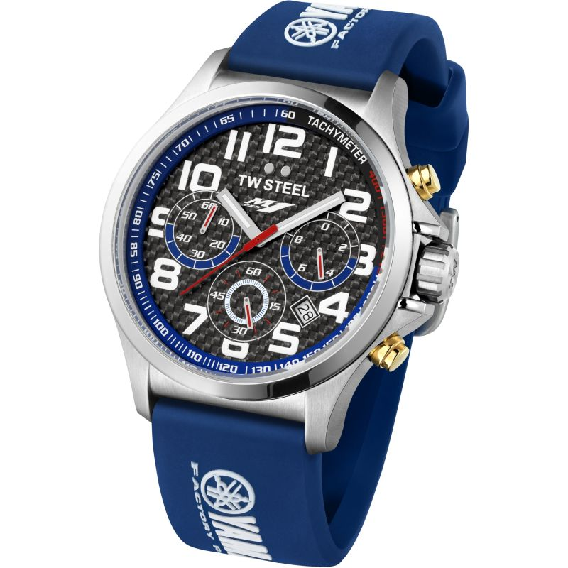 Mens TW Steel Pilot Yamaha Factory Racing Edition 45mm Chronograph 45mm Watch TW0926
