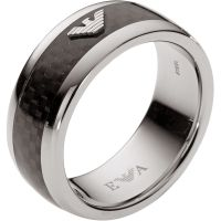 Mens Emporio Armani Stainless Steel Ring Size U EGS1602040512