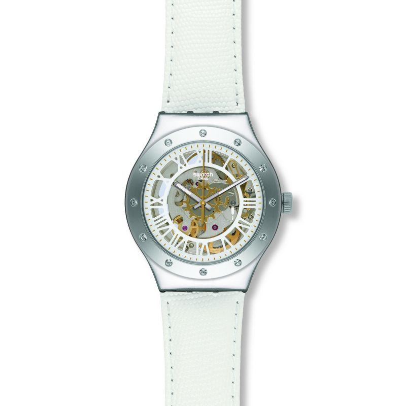 Ladies Swatch Rosetta Bianca Automatic Watch