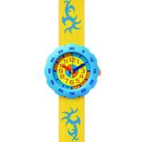 Kinder Flik Flak Junge In Gelb Uhr