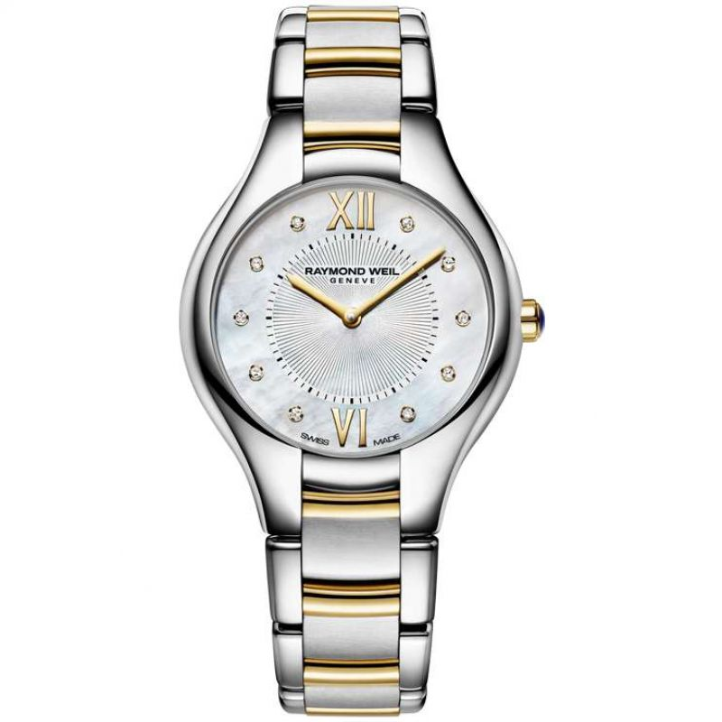 Damen Raymond Weil Noemia 32mm Diamond Watch 5132-STP-00985