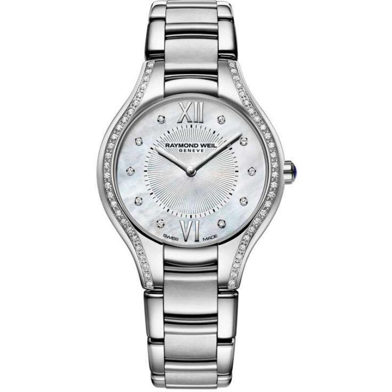 Damen Raymond Weil Noemia 32mm Diamond Watch 5132-STS-00985