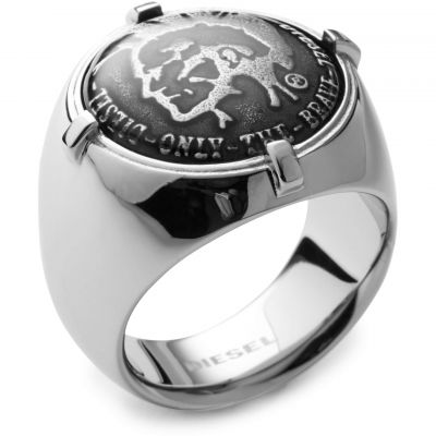 Mens Diesel Stainless Steel Size M.5 Ring DX0742040505