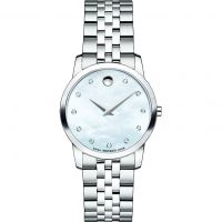 Damen Movado Museum Classic Diamond Watch 0606612